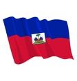 political waving flag of haiti vector image vector image