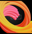 abstract 3d liquid color tentacle shapes vector image