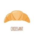 Croissant icon on white background vector image