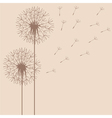 dandelion flight vector image