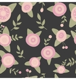 Hand drawn seamless pink flowers pattern doodle vector image