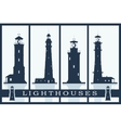 Lighthouses set vector image