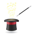 magic wand and cylinder hat 02 vector image