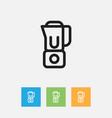of food symbol on blender vector image