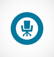 Office chair bold blue border circle icon vector image