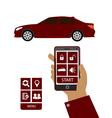 Remote car starter control system vector image