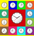 set clock icon flat design vector image