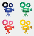 video camera icon Abstract Triangle vector image