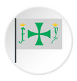 flag of christopher columbus icon circle vector image