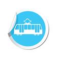 tram icon round blue copy vector image vector image