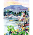 original watercolor painting on paper vector image