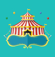 Classical Circus tent with banner for text vector image