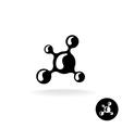 Molecular logo vector image