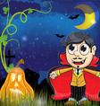 vampire and jack o lantern vector image