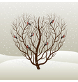 tree and bullfinches vector image vector image