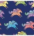 Blue Horse Pattern vector image