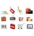 retail icon set vector image vector image
