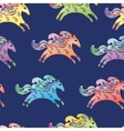 Blue Horse Pattern vector image