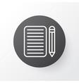 Essay writing icon symbol premium quality vector image