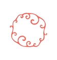 Hand drawn curly doodle frame Template for your vector image