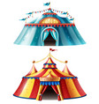 realistic circus tent icon set vector image