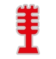 retro microphone isolated icon design vector image