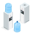 Water dispenser isolated on white background vector image