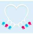 Birds with speech bubble heart vector image vector image