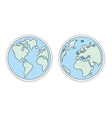 Planet Earth flat design elements eco icons vector image vector image