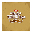 Happy father day vintage greeting card vector image vector image