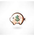 moneybox grunge icon vector image vector image