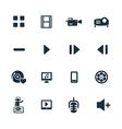 dj icons set vector image