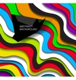 Abstract colorful lines background vector image