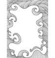 black white decorative frame flowing lines vector image