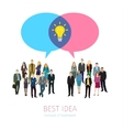 Concept of business social networking vector image