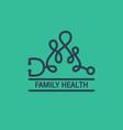 family health logo vector image
