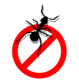Forbidden to enter ants vector image