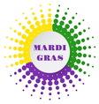 Mardi Gras halftone background vector image