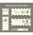 template of Christmas banners for websites vector image