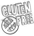 doodle gluten free vector image vector image