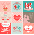 valentines card set vector image vector image