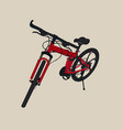 hand drawn modern bike sketch vector image