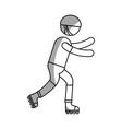 Ethlete practicing skate avatar vector image
