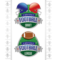 Fantasy Football American Football Emblems vector image