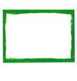 Green grunge frame vector image vector image