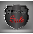 Metal Grey Shield of Black Friday Sale vector image