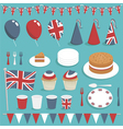 british party set vector image