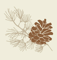 Pinecone vector image