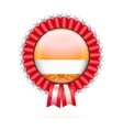 Modern badge with ribbon vector image vector image