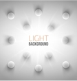 Abstract background with white circles vector image